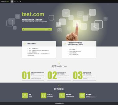 域名出售企业网站模板-域名出售网站模板制作-环宇网络