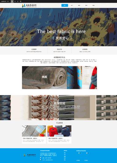 纺织网站模板-纺织网站制作与推广-精品企业网站模板299元