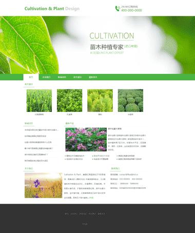 苗木种植网站建设模板-制作苗木种植网站-优化苗木种植排名