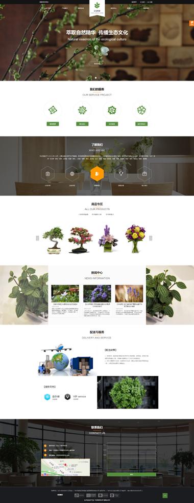 精品網站模板-花卉園藝網站建設-專注網站SEO優化排名