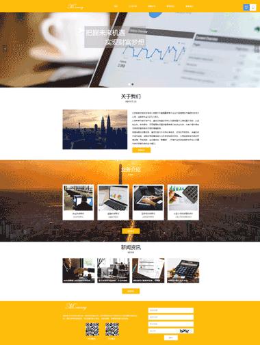 金融顾问网站模板-投资顾问网站模板定制