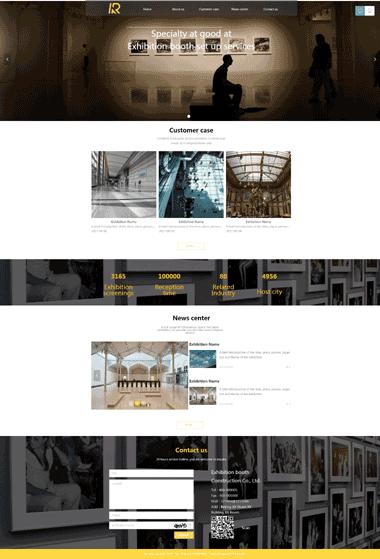 展会服务网站模板-展会服务图片素材-展会服务网站SEO优化(英文)