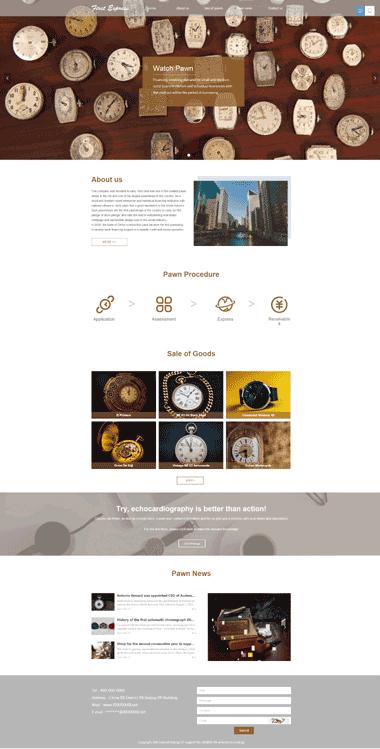 典当拍卖网站模板-英文网站制作优化-高端首饰产品展示