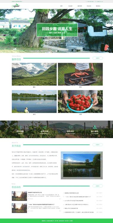 特色农庄网站推广-绿色环保网站设计-农业网站优化