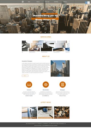 投资担保网站模板-投资担保网页图片素材-投资担保SEO优化(英文)