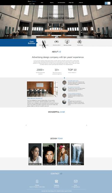 广告设计网站模板-广告设计模板网站定制-SEO优化广告设计(英日双语)