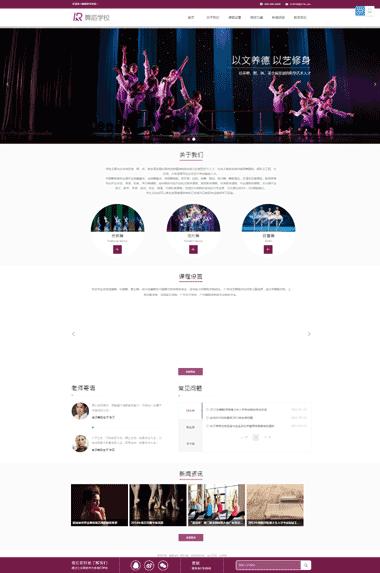 舞蹈学校网站模板-舞蹈培训学校模板网站定制-舞蹈学校模板网站SEO优化