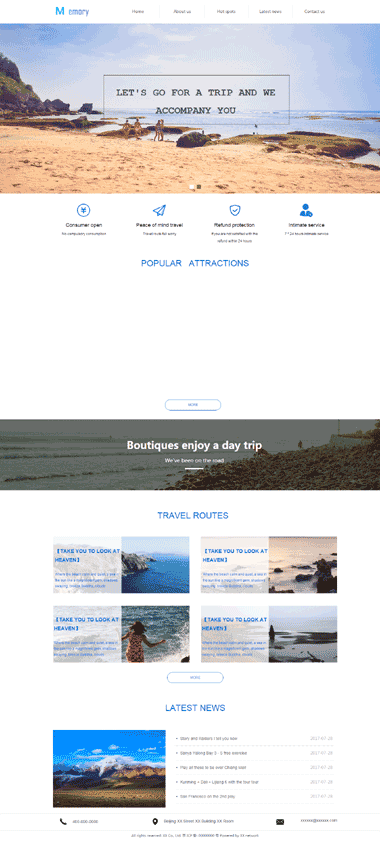 特色旅游网站模板-英文网站模板-SEO优化特色旅游