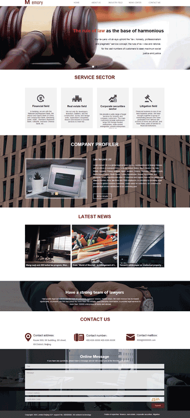 法律律师网站定制-法律律师模板网站SEO优化-法律律师图片素材(英文)