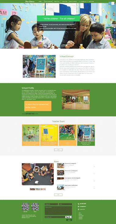 儿童教育网站模板定制-正版儿童教育模板网站-儿童教育模板网站SEO优化服务