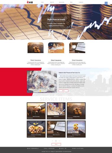 金融服务网站优化-金融服务网站设计模板