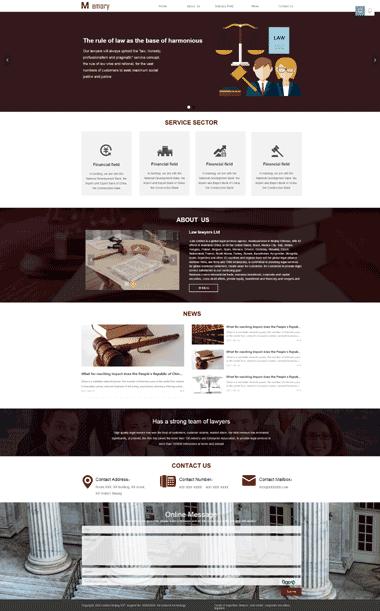 法律网站定制-律师模板网站制作-法律律师网站SEO优化(英文)