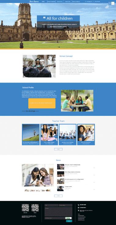 教育网站模板定制-正版学校模板网站设计-教育学校模板网站SEO优化(英文)