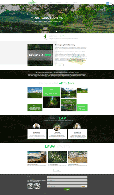 旅游景点网站模板-英文网站模板-SEO优化旅游景点