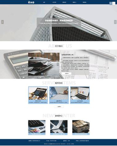 金融服务网站设计模板-网站推广优化-网站备案