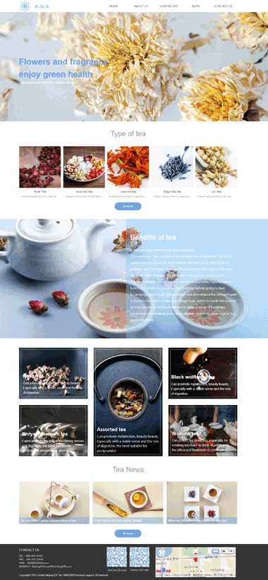 茶叶饮料网站模板-茶叶饮料网站模板设计-茶叶网站模板制作