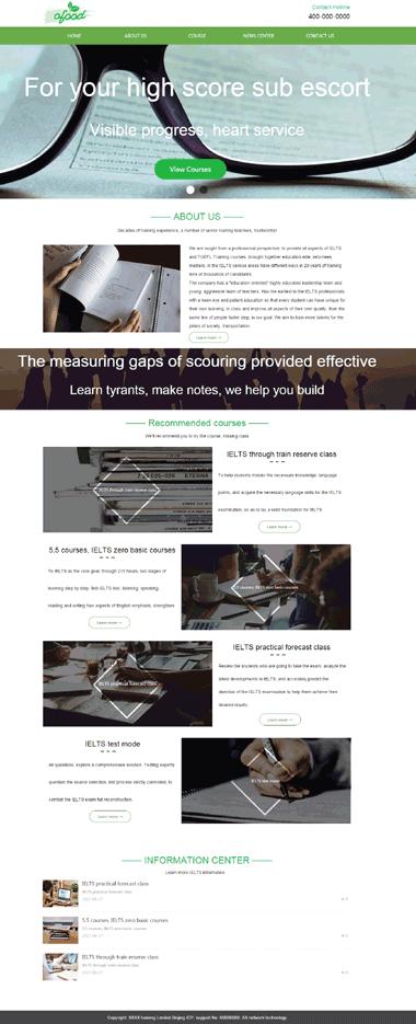 纯英文网站模板-中英文网站模板-精品网站模板定制