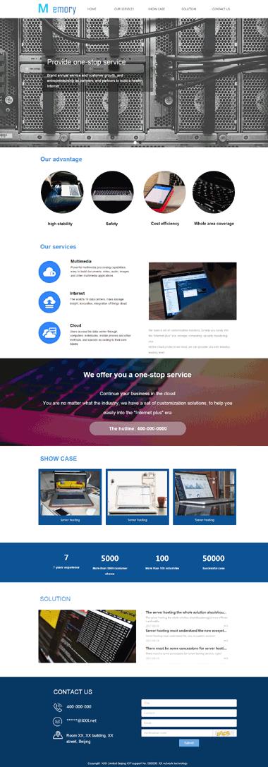 正版互联网行业网站模板-互联网模板网站制作-互联网模板网站SEO优化(英文)