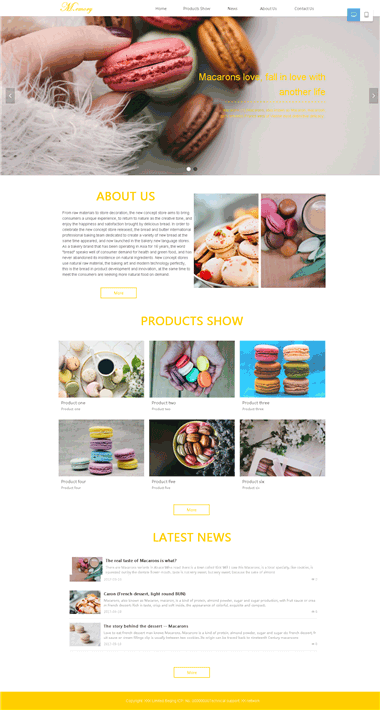 马卡龙网站模板-马卡龙网站专属定制设计-精品SAAS建站