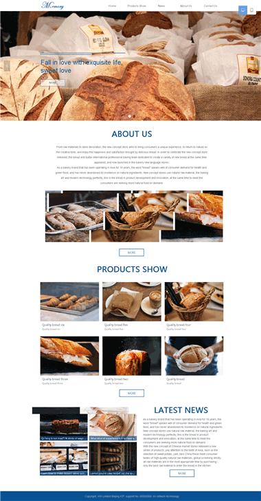 面包网站模板-甜点网站模板-面包甜点网站模板制作