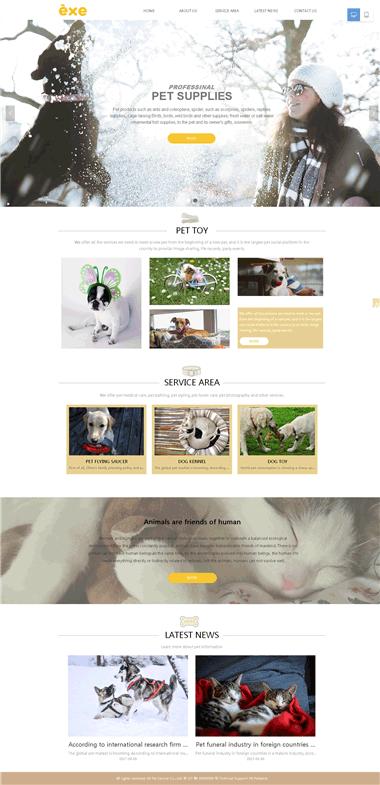 宠物用品网站模板-专业宠物网站设计
