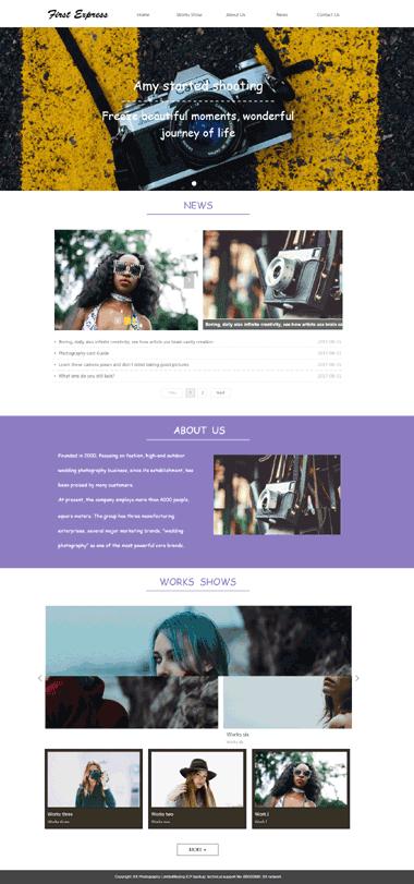 人像摄影网站模板-摄影网站定制-人像摄影模板网站图片素材