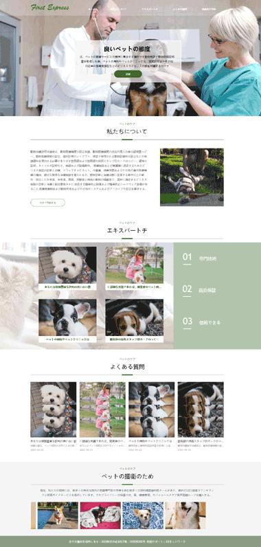 日文网站模板-中日文网站模板定制-宠物医院模板网站