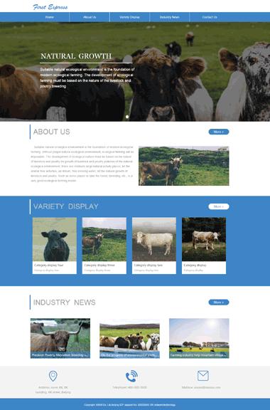 畜牧养殖网站模板-小程序网站设计-独立IP主机购买